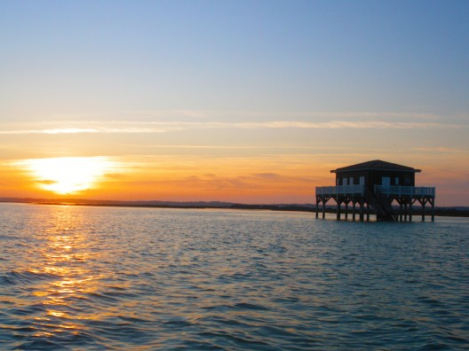 Sunset over the Arcachon Basin